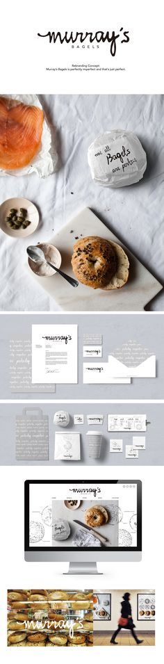 MURRAY'S BAGEL REBRANDING on Behance by TINA CHIEN-CHUN FENG New York, NY. Who wants a bagel now? PD