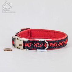 "Mini Leder Halsband ""Blumenranke"" rot  24,90€"