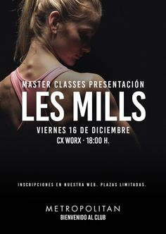 Presentación de las nuevas coreografías Les Mills Body Balance, Body Combat y CXWorx en Metropolitan Galileo. ¡Os esperamos el próximo viernes 16 de diciembre!