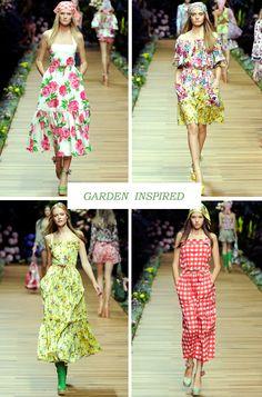 Garden inspired summer dresses