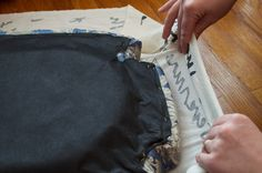 Dining Set Makeover: Paint and Tea-Tinted Fabric Make Old Chairs New by Sarah Greenman