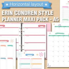 New on #filodeligh etsy shop! Erin Condren style horizontal layout #planner maxi pack! 30 colorful pages for your #filofax or other a5 planner! #plannerobsession #plannerlove #plannerprintables #planneraddict #plannergirl #filofaxpages #filofaxlover by filodelight