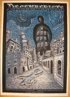 2011 The Decemberists - Silkscreen Concert Poster by Emek