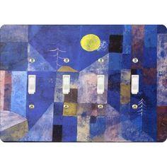 Paul Klee Moonlight Painting Quadruple Toggle Light Switch