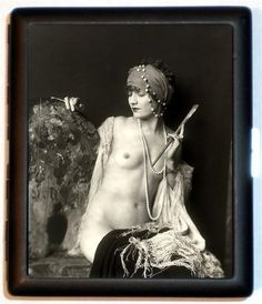Jazz Age Gypsy Cigarette Case Business Card door sweetheartsinner