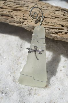 Frosted Sea Glass Christmas Ornament with a by DejaVuDesignz