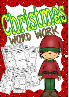 Christmas Word Work for Little Kids (26 words)