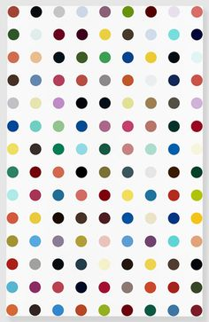 "Damien Hirst, ""Moxisylyte,"" 2011. Really like the color combiantion and random symmetry"
