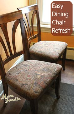 tutorial for old chairs - kitchen nook? this is more in my budget ...