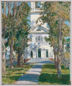 Childe Hassam- the Church at Gloucester- local color- the artist used realistic colors to create this