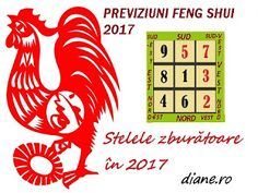 Feng shui flying star 2017 chart for the year of the Rooster. Learn which direction is afflicted the most by each star - Feng Shui Chart, Feng Shui Symbols, Feng Shui Rules, Feng Shui Items, Feng Shui Directions, Feng Shui Health, Feng Shui Stones, Feng Shui Bathroom, Feng Shui History