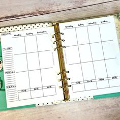 free printable planner page A5 weekly vertical erin condren style.