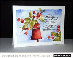 "Grab your stamps and paintbrushes, this week Micheline ""Mimi"" Jourdain is getting inky with the brushstroke stamps from our newest collection, Be Merry. And after Mimi has you ho-ho-ho-ing, why n…"