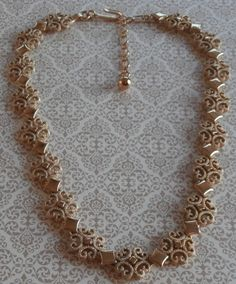 Vintage Filigree Gold Tone Collar Necklace ~ #Vintage #Jewelry #Filigree #Fashion #Style #Design by StarliteVintageGems, $21.00