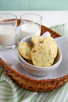 Pistachio lime cookies