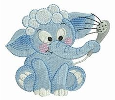 Bathtime Elephants 10 - 4x4 | What's New | Machine Embroidery Designs | SWAKembroidery.com Ace Points Embroidery