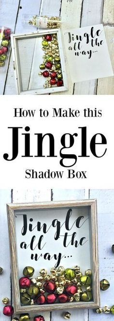 Jingle All the way idea for Christmas. A shadow box and free printable at Refresh Restyle