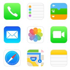 iOS 7 icons with pure CSS by Peter Schmiz, via Behance