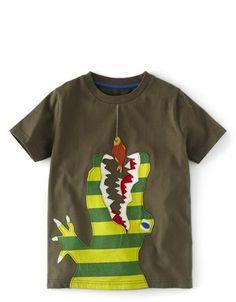 Mini Boden 'Big Appliqué' Short Sleeve T-Shirt (Toddler Boys, Little Boys & Big Boys) on shopstyle.com