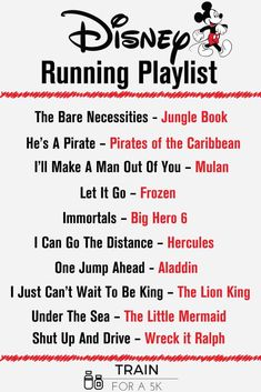 The Ultimate Disney Running Playlist - Train for a 5K.com