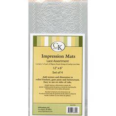 Lace Assortment Impression Mat Set of 4