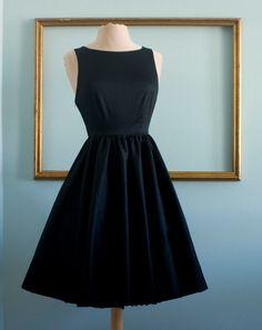 Audrey hepburn breakfast at tiffany's black dress vintage inspired retro dress  - TIFFANY style