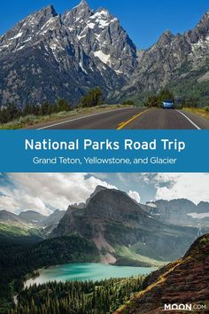 In the Northern Rockies, you'll come across young mountains, a steaming  supervolcano, and fast-melting glaciers. With a week-long road trip, you can see all of them by stitching together three national parks: Grand Teton, Yellowstone, and Glacier. #nationalparks #roadtrip
