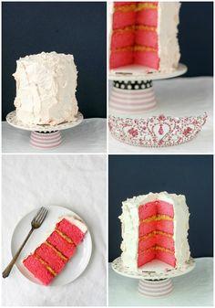 Rose-flavored Cake with Pistachio Filling BoulderLocavore.com