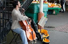 Street corner music at Pike Place Market