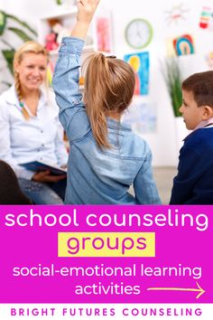 Planning for school counseling groups doesn't need to be time-consuming! Stop the overwhelm with this done-for-you school counseling curriculum. You and your students will love this group activities that include 10 group lessons and 14 social-emotional learning activities that are perfect for elementary students in grades 1-5. Check out all the details of these fun lessons! Group Counseling, Counseling Activities, Group Activities, School Counseling, Social Emotional Development, Social Emotional Learning, Elementary School Counselor, Elementary Schools, Future School