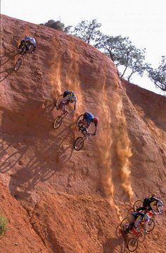 Downhill!?! More like Downcliff Mountain Biking :)