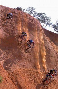 Downhill!?! More like Downcliff Mountain Biking :)