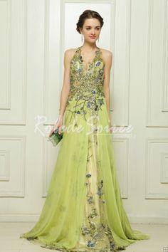 tencel la broderie malais lumire robe de soire en satin vert dordinateur vitoria1305160038 - Robe De Tmoin De Mariage Pas Cher