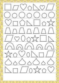 Trace the Dotted Lines Worksheets for Kids - Preschool and Kindergarten Preschool Writing, Preschool Learning, Preschool Activities, Teaching Kids, Autumn Activities, Tracing Worksheets, Alphabet Worksheets, Kindergarten Worksheets, Childhood Education