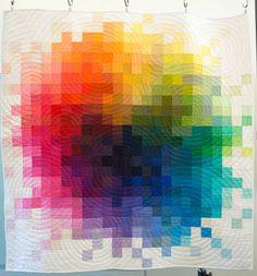 Modern quilt by Tara Faughnan, featured at SAQA.