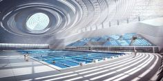 Jingzhou Sports Center in the downtown area of Jingzhou city, China, will be designed by the collaboration of Chinese practice DUO and China National Sports Group. The center Organic Architecture, Architecture Plan, Amazing Architecture, Futuristic Design, Futuristic Architecture, Architecture Concept Diagram, Eco City, Future Buildings, Bridge Design