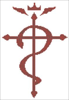 Flamel: Fullmetal Alchemist / FMA Anime Cross Stitch Pattern