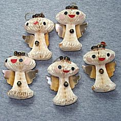 1950s Japan Tissue Honeycomb Angels Christmas Ornaments
