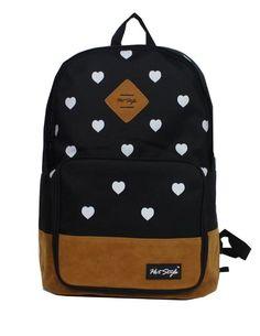 Wingler Colorful Cartoon Canvas Shoulder Bag Handbag School Bag Backpack – A5