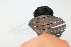 Sustainable Jewelry Class by contemporary Jewelry artist Mariana Acosta Contreras / Material: washing machine basin / Student: Mauricio Peregrina @ Universidad Gestalt de Diseño Xalapa