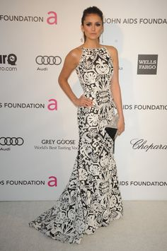 Nina Dobrev at Elton John's Oscars After party