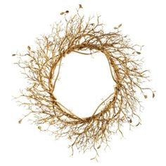 Manzanita Branch Wreath  Our Manzanita Branch Wreath celebrates Mother Nature's magnificent design. Molded from a live Manzanita, every branch gleams with an opulent antique bronze patina to inspire your decorating scheme.