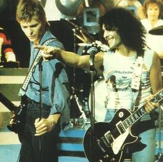 """Marc Bolan and pal David Bowie perform on """"Marc"""" (1977)"""