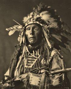 """Shot In The Eye"" Oglala Lakota. Around 1890."