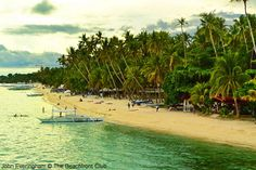 Bohol, Philippines; Alona Beach is the most popular stretch of sand on Panglao Island.