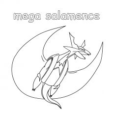 Mega Salamence Coloring Pages Coloring Pages Color