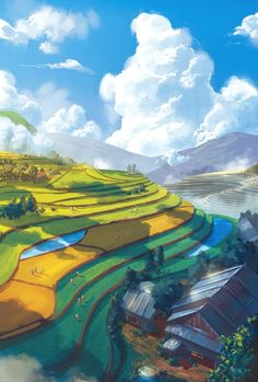 19 Super Ideas For Nature Backgrounds Landscape Concept Art Art And Illustration, Illustrations, Environment Concept Art, Environment Design, Landscape Concept, Landscape Art, Bg Design, Photocollage, Scenery Wallpaper