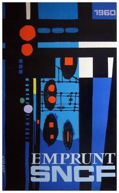 SNCF - Emprunt by Jean Colin  c.1960