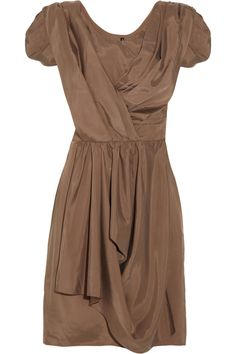Draped satin-twill dress by Walter Baker  A MUST HAVE IN EVERY GIRLS COLLECTION
