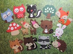 This listing is for a set of 11 die cuts characters shown in the picture. You can choose any number and variety you would like. Please let me